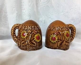 Vintage Kansas Salt and Pepper Shaker Set