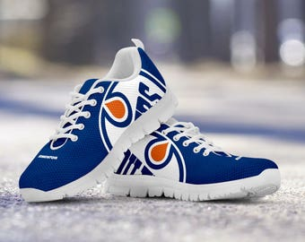Edmonton Oilers Fan Custom Running Shoes/Sneakers/Trainers - Ladies + Mens Sizes fan, collector, gift