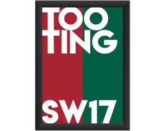 Tooting Typography SW17 - Giclée Art Print - South London Poster