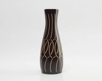 Piesche & Reif Vase Sgraffito Decor Mid Century East Germany 1960s