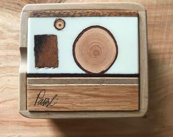 Square Peg Round Hole - Ring or Earring Box (mini)
