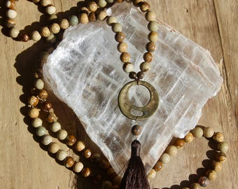 Grade A Jasper Mala - Prayer Necklace - 108 beads