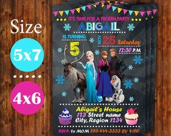 Frozen Invitation, Frozen Birthday Invitation, Frozen Birthday Party, Anna Invite, Elsa Invite, Frozen Invite, Digital Invitation.