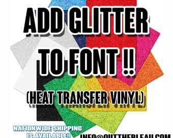 Glitter Add On Font For T-Shirts