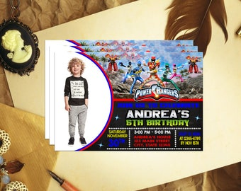 Power Ranger Invitation, Power Ranger Birthday, Power Ranger Invite, Power Ranger Party, Power Ranger Birthday Invite, Power Ranger, DW377R