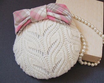 fascinator knitted vanilla