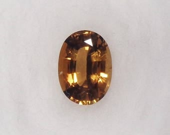 Orange-Yellow Tourmaline .88ct Natural Loose Oval Cut Faceted Gemstone
