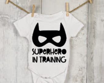 Superhero in Training Onesie®, Funny Onesies®, Funny Bodysuits, Baby, Baby Clothing, Baby Gift, Baby Announcement, Baby Shower