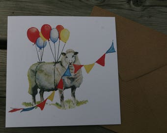 party sheep card