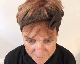 Womens Brown Fauxsuete Hairband  - 2017 Fall Fashion Hair Accessory