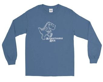 Mommysaurus Rex Long Sleeve T-Shirt, Mom Life, Mom Shirt, Gift For Mom, Mother, Mommy, Mama, Dinosaur, T Rex, Mothers Day, Christmas