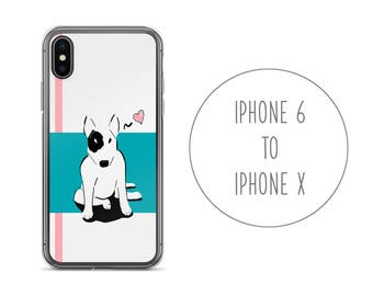 Bull Terrier iPhone Case Dog, iPhone X Case, iPhone Dog, iPhone 8, Plus, iPhone 7, Plus, iPhone 6, 6S, Plus, English Bull Terrier