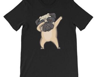 Dabbing Pug T-Shirt Pug Gift Pugs Pug Art Pug Dog Pug Lover Cute Pug Dab Dabbing Dab on Em Dabbing Dog Dabbing Shirt Pug Mom Puppy Dog Doggo