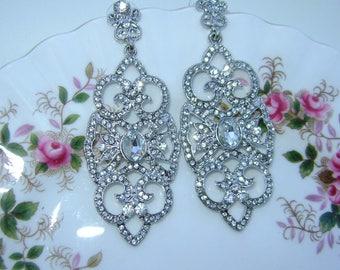 Beautiful Chandelier Art Deco  Earrings