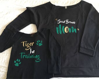 Tiger in Training off shoulder tee for toddlers