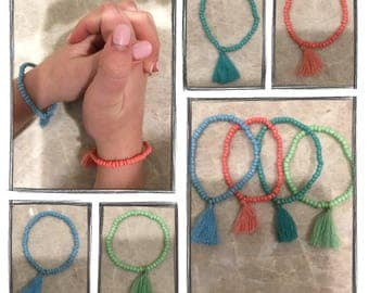 Colored Tassel Bracelet