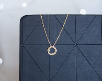 Heart Necklace | Gold Heart Necklace | Gold Circle Necklace | Dainty Necklace | Gold Minimalist Jewelry |