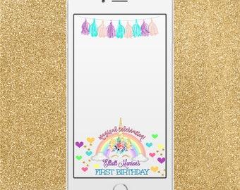 UNICORN SNAPCHAT FILTER, unicorn party, unicorn theme, snapchat geo filter, snapchat