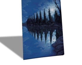 Canvas Canvas Prints-Rob Gonsalves-Ladies of the Lake-yellow BUS