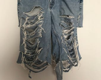 Custom Denim Bermuda Shorts