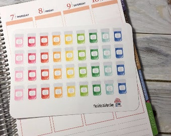Colorful pet pills. Perfect for any planner!!