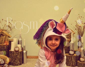 Unicorn Kids Costume size 92 Handmade Tail Ridge Anniversary Costume Rainbow Costume