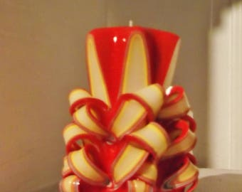 Carved candle