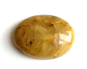 Golden Rutile Oval Designer Cabochon,Size 30x22x8 MM,Rutilated   AAA ,Loose Gemstone,Smooth Cabochons.Natural Gemstone.
