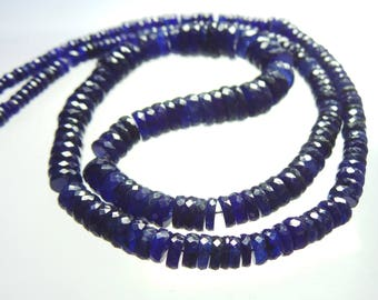 Blue Glass Filling Faceted,Tyear,Beads,Size-3x9 MM Natural Blue Glass Filling,Faceted Tyear Beads, Quality,Beads,Natural Gemstone 18.5 INCH