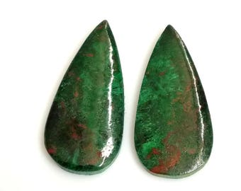 Chrysocolla Pear Pair Cabochon,Size- 26x12 MM, Natural Chrysocolla, AAA,Quality  Loose Gemstone, Smooth Cabochons.