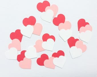 Heart Confetti, Red White and Pink Confetti, Valentine's Day, Baby Shower, Party Decoration