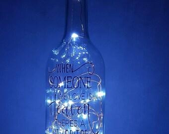 Memorial light up bottle