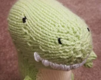 Hand Knitted T-Rex
