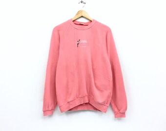 Rare!!Vintage Ellesse Tennis Perugia Italia Sweatshirt Full logo Biglogo Spellout Pullover Jumper sweatshirt Tennis Hiphop
