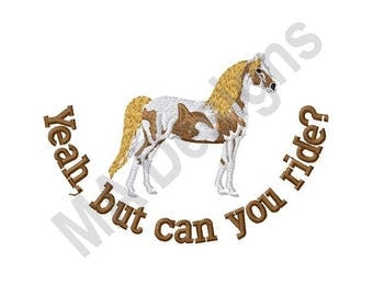 Horse Riding - Machine Embroidery Design