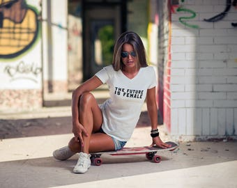 """Womens Graphic Tee/ Funny tshirts / """"Future is Female"""" / Quote Shirts / Graphic Tee tumblr"""