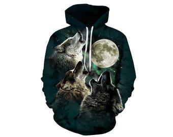 Wolf Hoodie, Wolf, Wolf Hoodies, Animal Prints, Animal Hoodie, Animal Hoodies, Wolves, Hoodie Wolf, Hoodie, 3d Hoodie, 3d Hoodies - Style 22
