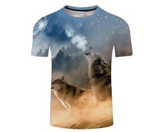 Wolf Shirt, Wolf Shirts, Wolf Tee Shirt, Wolf Tshirt, Wolves Shirt, Wolf T-shirt, Wolf, Wolves, Wolves Tshirt, Shirt, Wolf Tee - Style 9