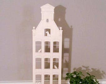 Amsterdam Canal House, Animals, Cats, Dog, Mouse, home decor, interior design, handcrafted wood unique gift