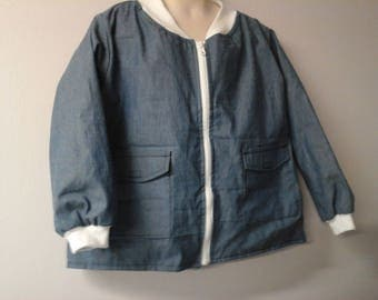 CLEARANCE-SIZE M Weighted Shirt for Child w/Special Needs & Sensory Issues. Indigo Blue Denim