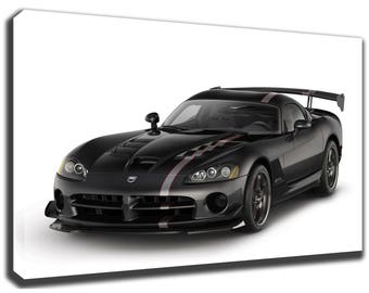 DODGE VIPER Canvas/Poster Wall Art Pin Up HD Gallery Wrap Room Decor Home  Decor