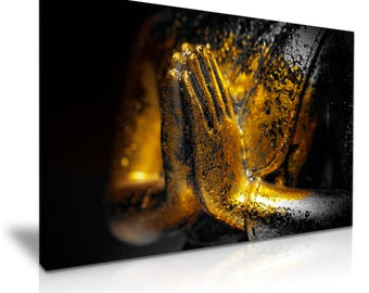 Golden Buddha Hands Canvas 76 cm x 50 cm