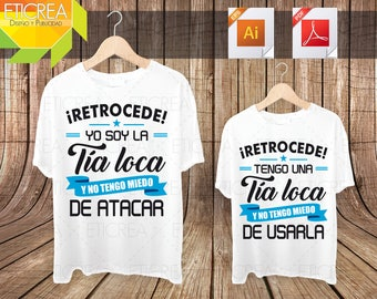 Tia Loca/vectors/EPS/AI/PDF/sublimation/editable