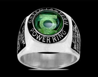 3664 green lantern corps ring justice league packaged in its own bag original - Green Lantern Wedding Ring