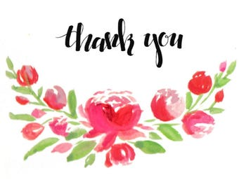 Thank You Cards Flowers