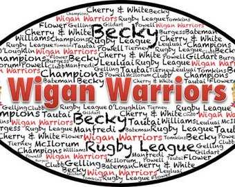 Rugby League Word Art