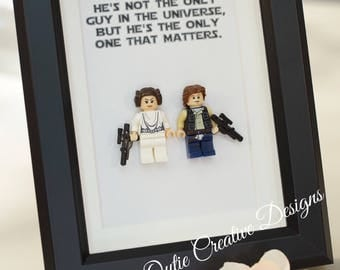 Star Wars, Lego, Lego minifigures Princess Leia, Han for daddy, husband, birthday, valentine inspired by LEGO
