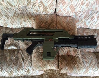 M41A Pulse Rifle Aliens Movie Prop Replica with Moving Parts Functional Cosplay