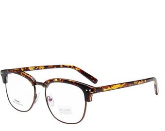 Vintage Half Frame Eyeglass Frames Tortoise