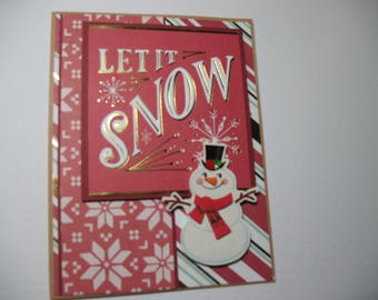 Sale - Snowman Christmas Card